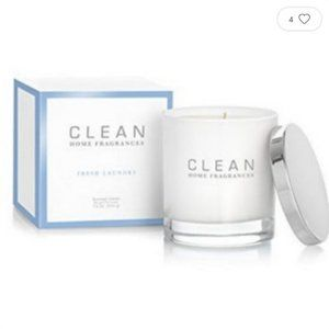 CLEAN Scented Candle 7.5oz Glass Jar FRESH LAUNDRY